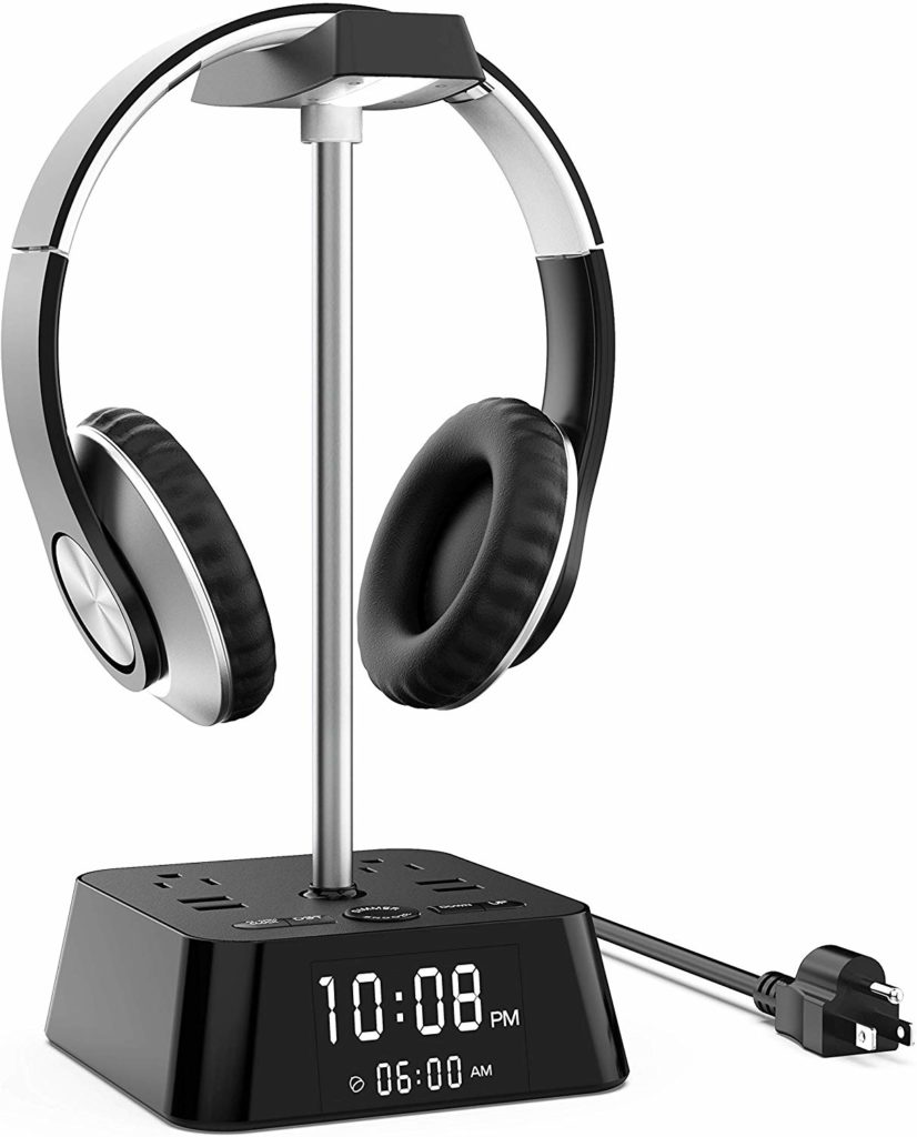 KDrive Headphone Stand with 4 USB Charging Port