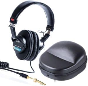 Sony MDR-7506 Professional Large Foldable Headphones Plus Protective Travel Case