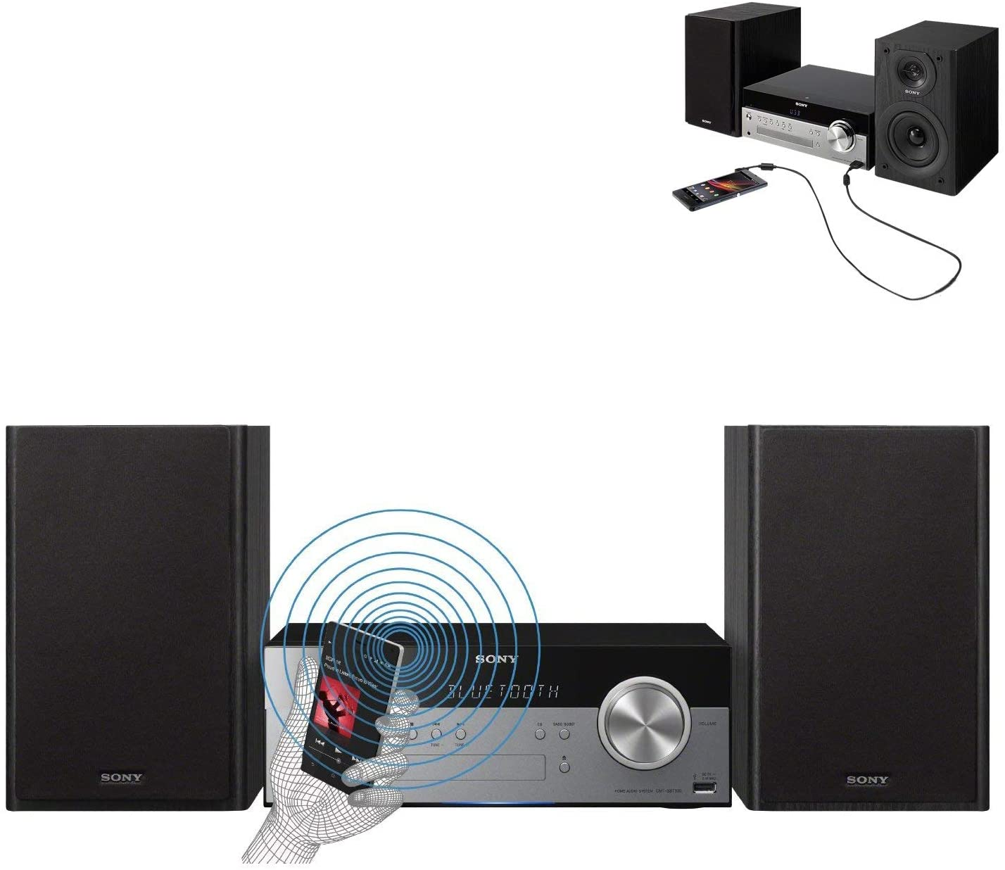 Sony All-in-One Stylish Micro Music Stereo System (CMTSBT100)